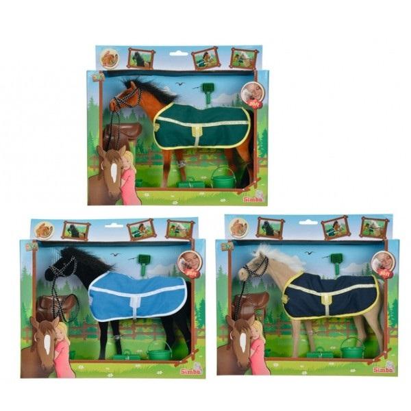 Лошадка флоковая в игровом наборе, 25 см., 3 видаЛошади (Horse)<br>Лошадка флоковая в игровом наборе, 25 см., 3 вида<br>