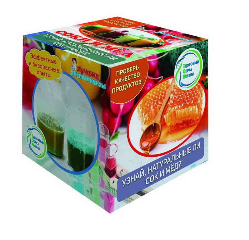 Купить Мини-набор для экспериментов - Здоровый образ жизни. Соки и мед, 150 грамм, Научные технологии