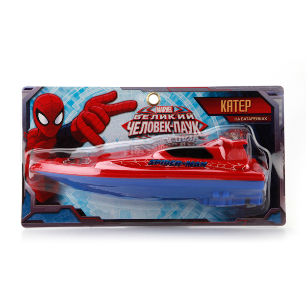 Катер «Человек-Паук» на батарейкахSpider-Man (Игрушки Человек Паук)<br>Катер «Человек-Паук» на батарейках<br>