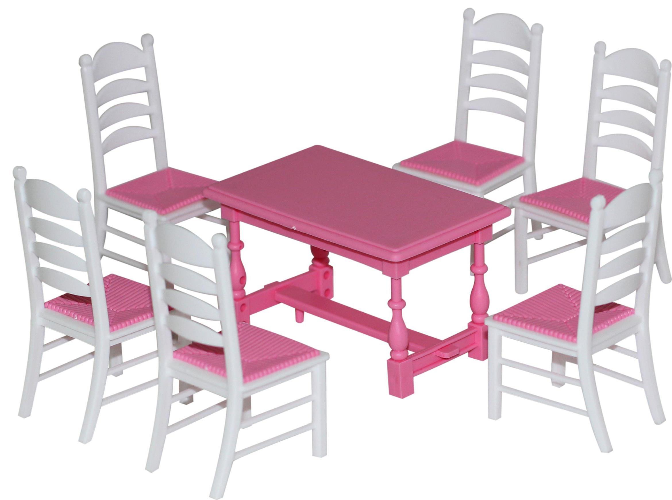 Набор мебели для кукол, 7 элементовКукольные домики<br>Набор мебели для кукол, 7 элементов<br>