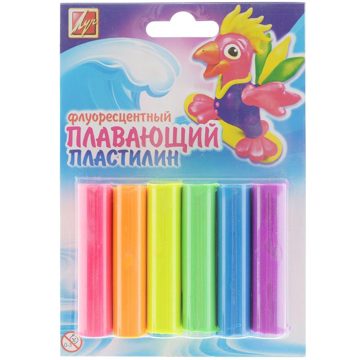 Пластилин плавающий флуоресцентный, 6 цветовНаборы для лепки<br>Пластилин плавающий флуоресцентный, 6 цветов<br>