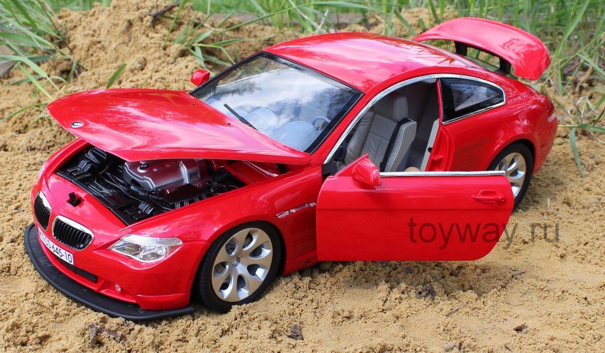 BMW 645 на радиоуправлении, 50 см., открываются двери, капотМашины на р/у<br>Радиоуправляемая машина BMW 645 для детей от 4- лет.<br>Длина машины: 50см.<br>Функциональность: движение вперед, назад, вправо, влево, свет фар, свет фонаря заднего хода...<br>