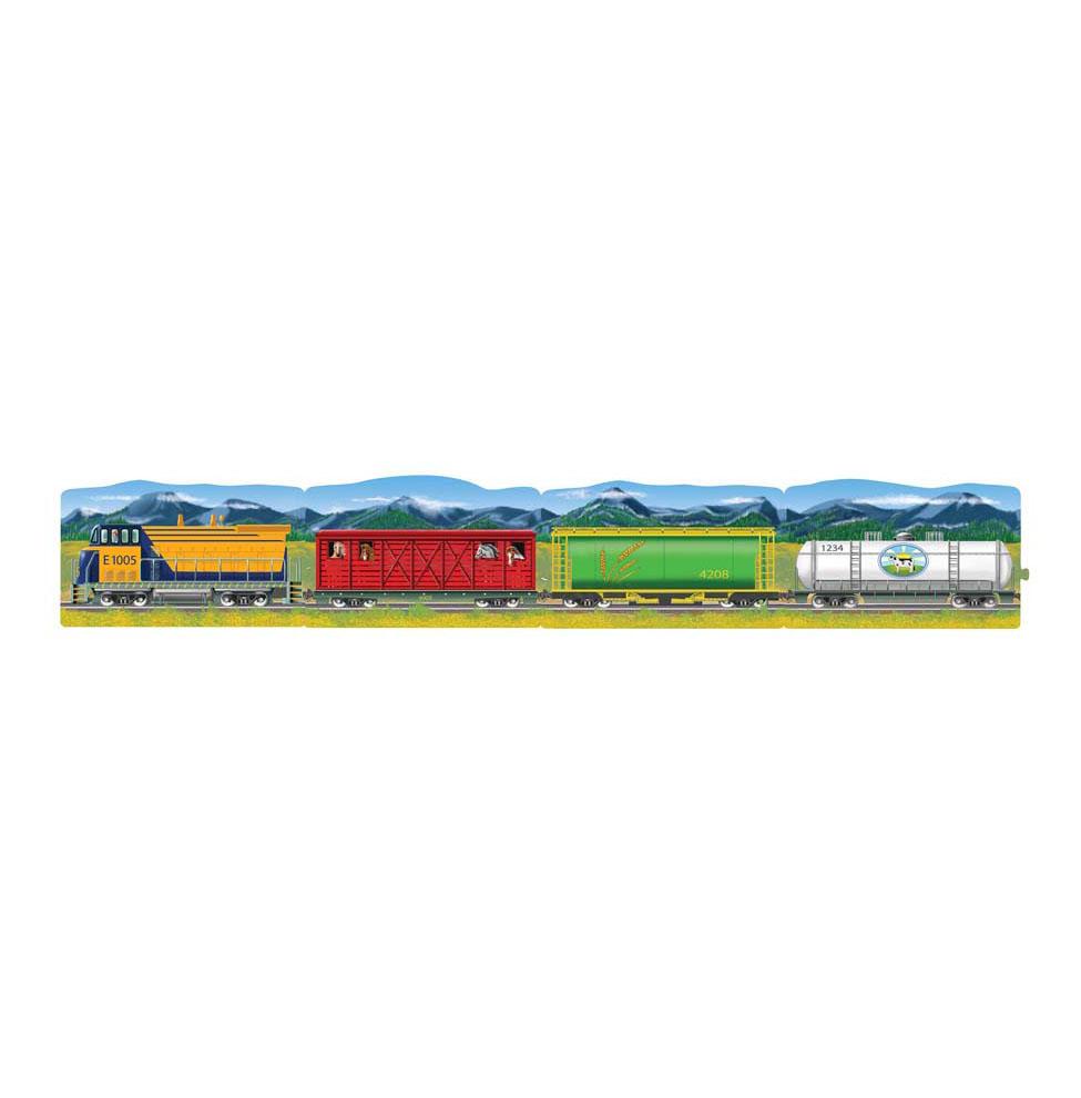 Купить Большой напольный пазл – Поезд, 96 элементов, Melissa&Doug