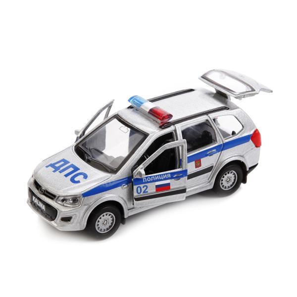 Купить Машина металлическая Lada Kalina Cross Полиция 12 см, открываются двери, инерционная, Технопарк