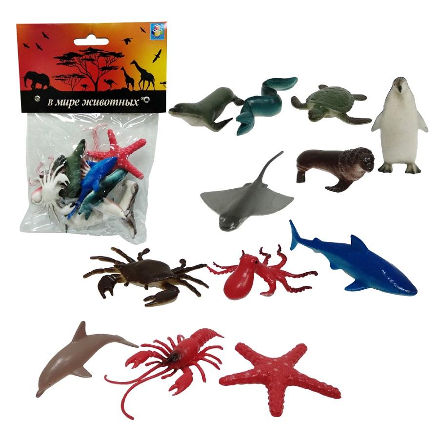 Набор морских животных 12 штук, В мире животных 1TOY