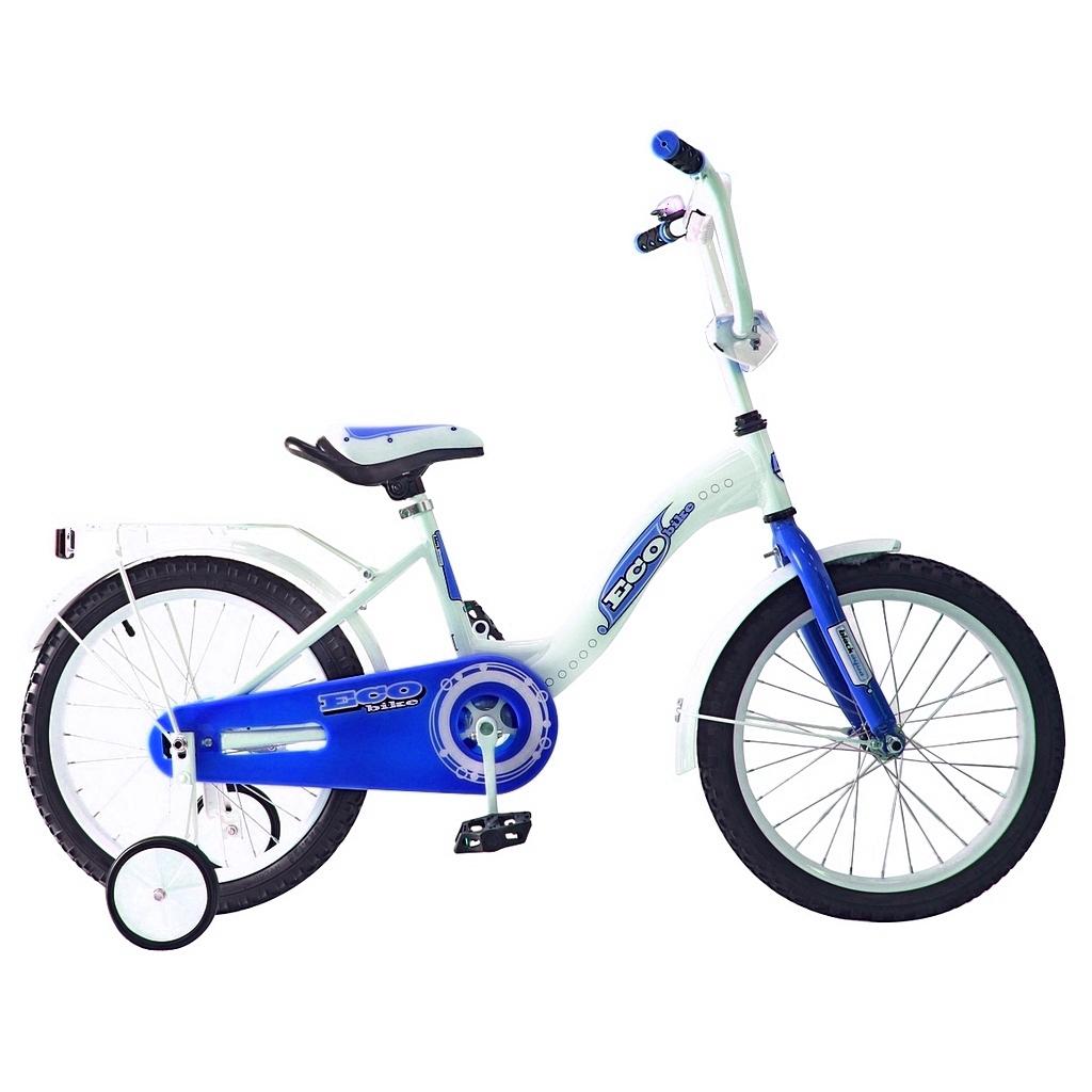 Двухколесный велосипед Aluminium Ecobike, диаметр колес 18 дюймов, голубойВелосипеды детские<br>Двухколесный велосипед Aluminium Ecobike, диаметр колес 18 дюймов, голубой<br>