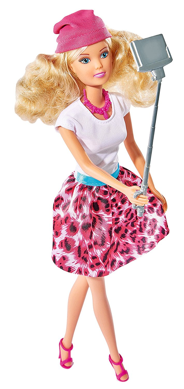 Кукла Штеффи с селфи палкой, 29 см.Куклы Steffi (Штеффи)<br>Кукла Штеффи с селфи палкой, 29 см.<br>