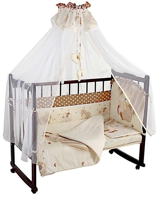 Комплект – Мишутка, бежевыйДетское постельное белье<br>Комплект – Мишутка, бежевый<br>