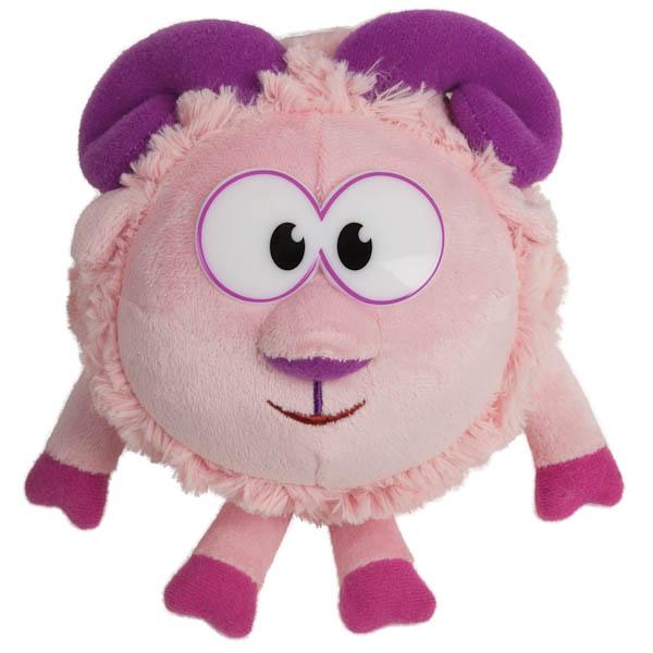 Озвученная мягкая игрушка - Бараш из мультфильма Смешарики, 10 см