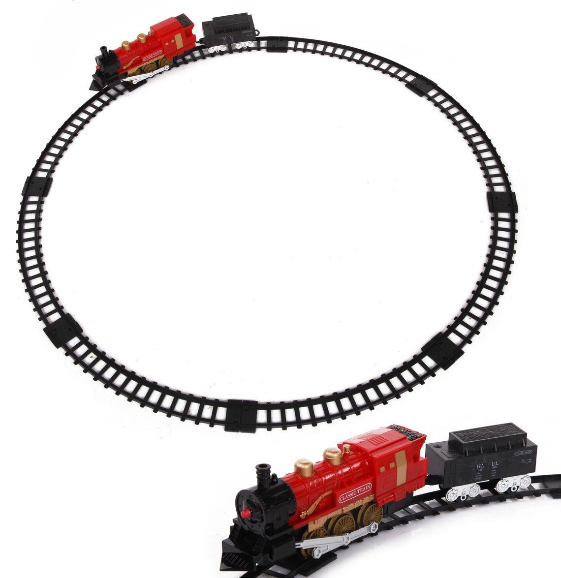 Железная дорога со световыми эффектами и дымом – Classic train - Детская железная дорога, артикул: 161454