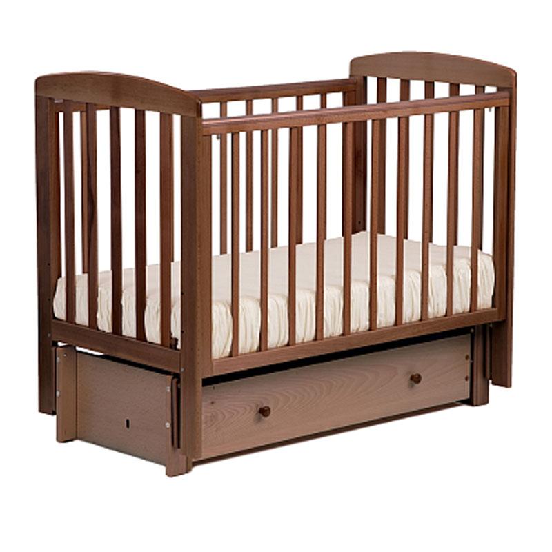 Кровать детская Лель АБ 16.3 Ромашка маятник продольный, орех светлый
