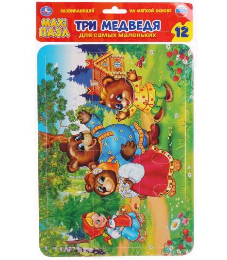 Макси-пазл – Три медведя, 12 деталейПазлы для малышей<br>Макси-пазл – Три медведя, 12 деталей<br>