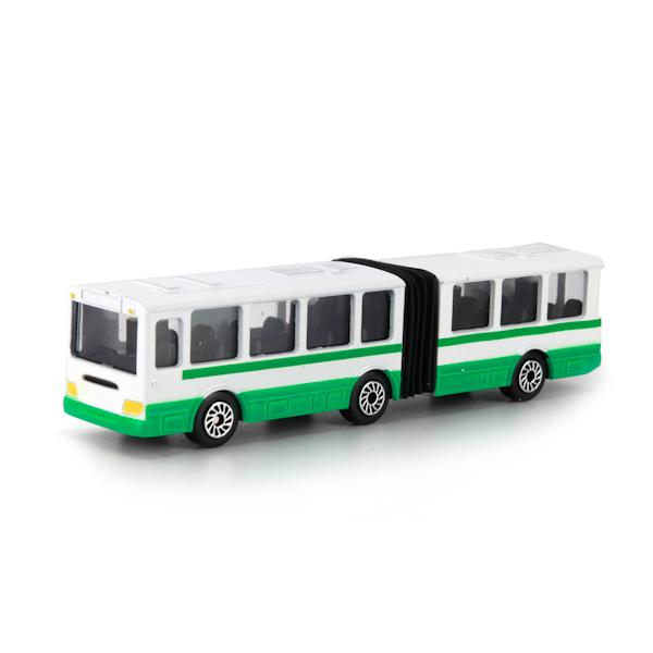 Купить со скидкой Автобус металлический, 12 см., с резинкой