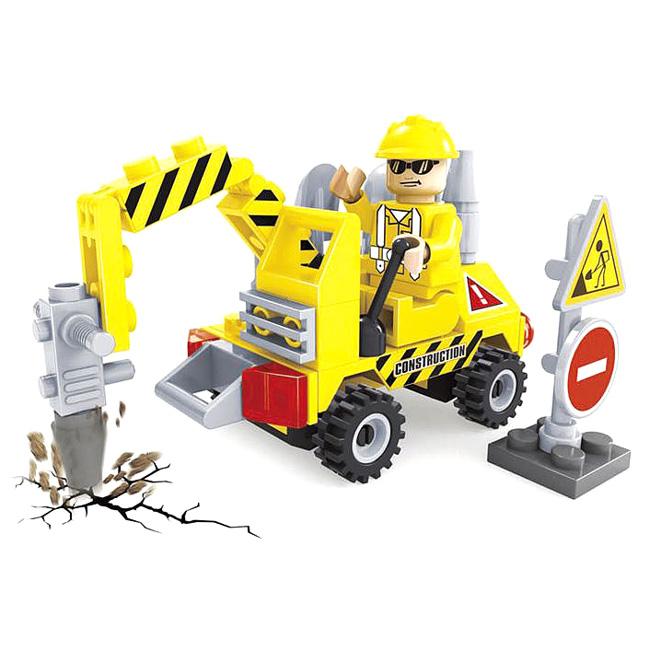 Купить Конструктор Городские строители. Машина с гидромолотом, 70 деталей, Ausini
