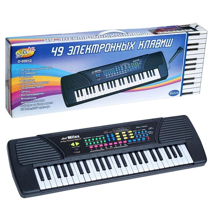 Детский синтезатор, 49 клавиш - Синтезаторы и пианино, артикул: 19797