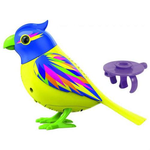 Птичка с кольцом, желтая с голубой головойИнтерактивные птички DigiBirds<br>Птичка с кольцом, желтая с голубой головой<br>