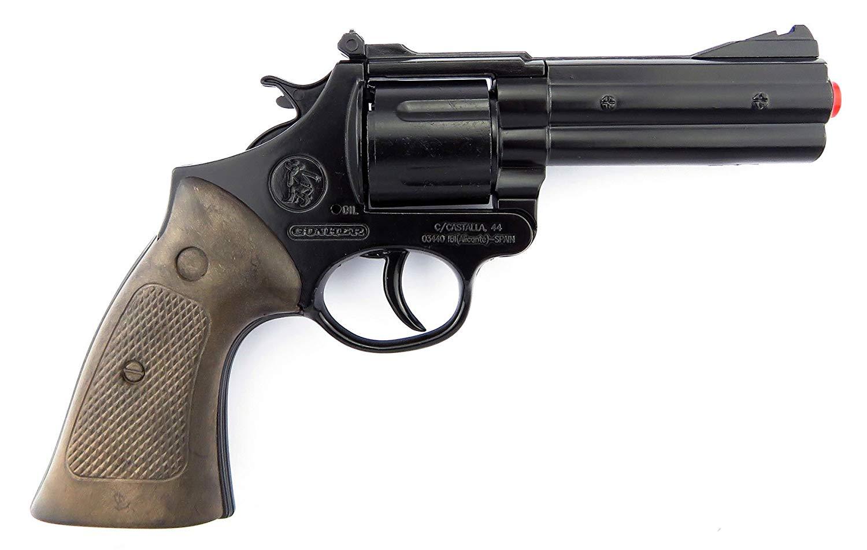 Револьвер металлический Police на 12 пистонов, цвет – черный фото