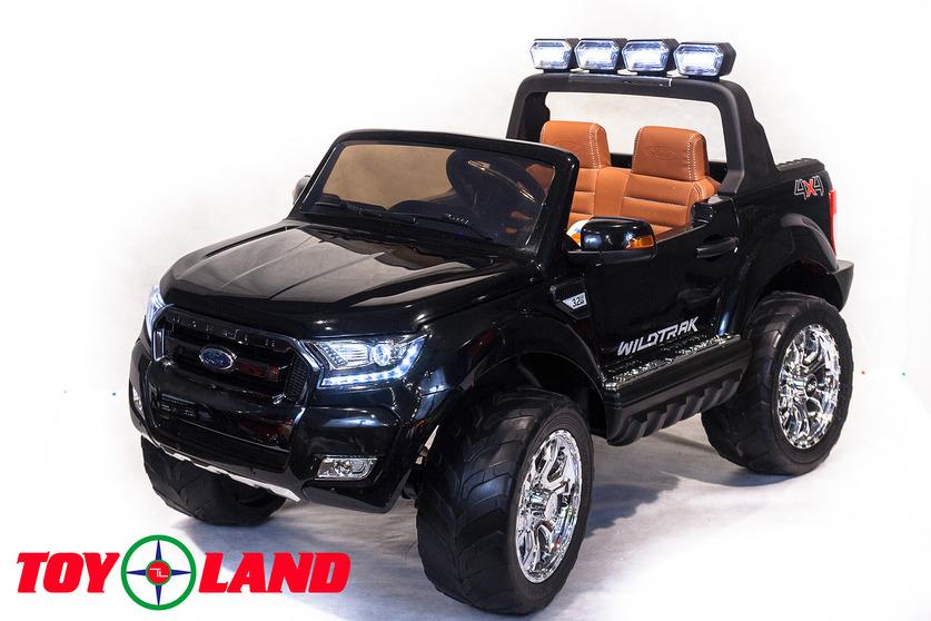 Электромобиль – Ford Ranger 2017 New 4x4, черный, свет и звукЭлектромобили, детские машины на аккумуляторе<br>Электромобиль – Ford Ranger 2017 New 4x4, черный, свет и звук<br>