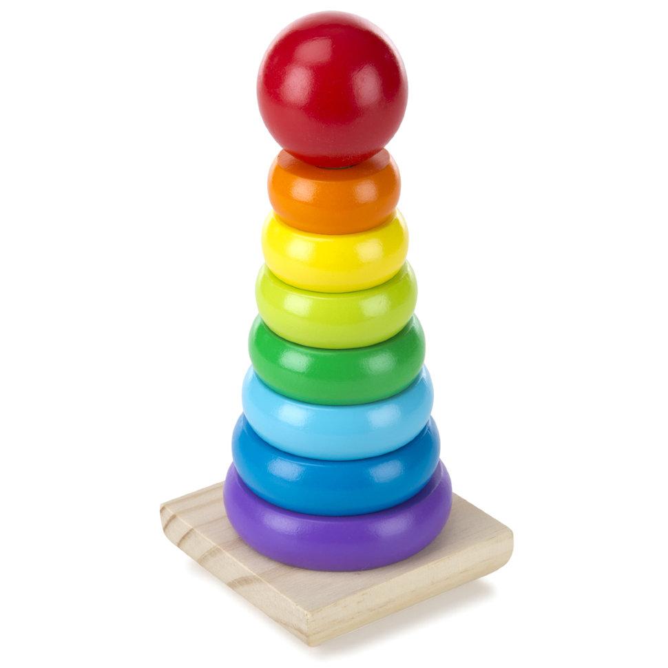 Радужная пирамидка из серии Классические игрушкиРазное<br>Радужная пирамидка из серии Классические игрушки<br>