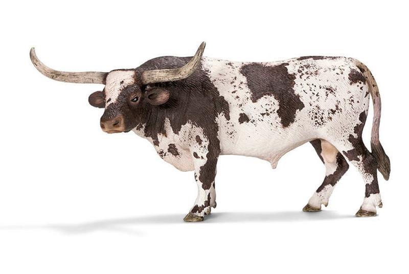 Купить Фигурка – бык Техасский Лонгхорн, размер 16 х 7 х 7 см., Schleich