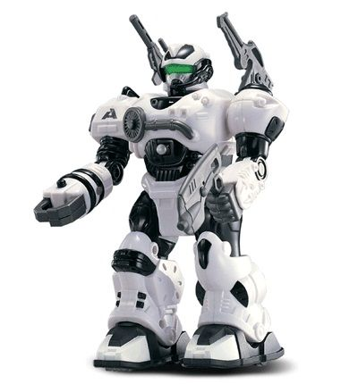 Робот Freezy Frost, 17,5 смРоботы, Воины<br>Робот Freezy Frost белый (Hap-P-Kid) <br>Робот может двигаться (вперёд). Все действия сопровождаются световыми эффектами. В арсенале робота 3 оружи...<br>