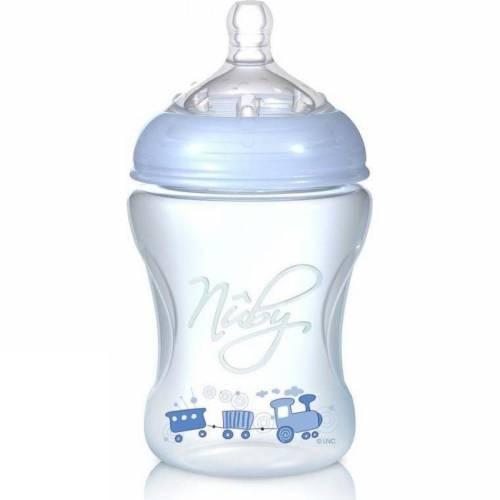 Бутылочка  с антиколиковой системой, 240 мл, голубаяБутылочки<br>Бутылочка  с антиколиковой системой, 240 мл, голубая<br>