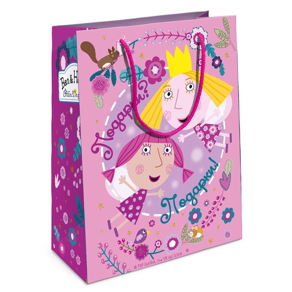 Купить Пакет подарочный Холли-фея из серии Бен и Холли, 23 х 18 х 10 см., Росмэн