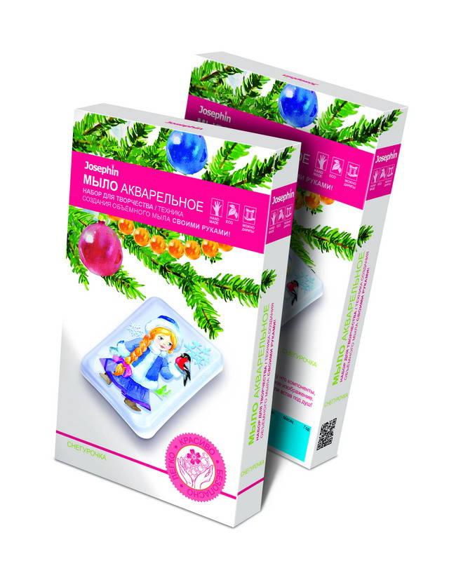 Набор для изготовления акварельного мыла - Новый Год - СнегурочкаПодарки на Новый год<br>Набор для изготовления акварельного мыла - Новый Год - Снегурочка<br>