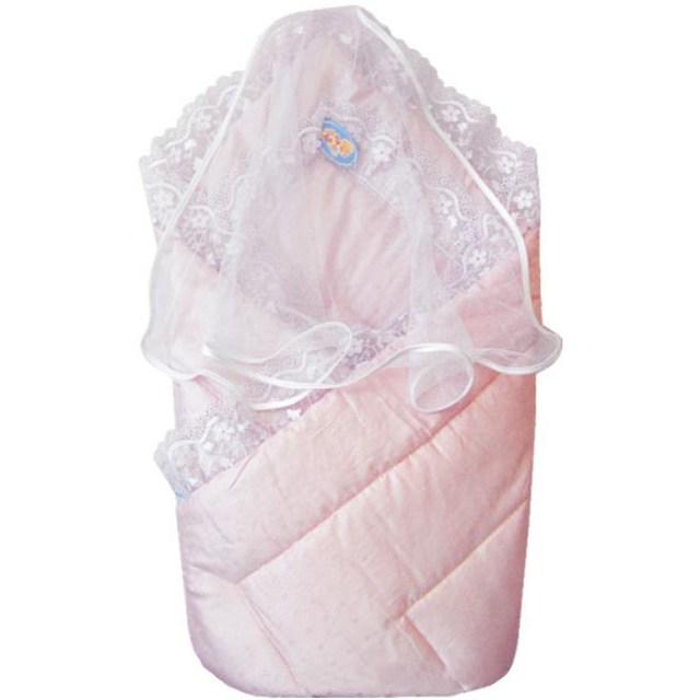 Купить Конверт-одеяло на выписку, розовый, Золотой гусь
