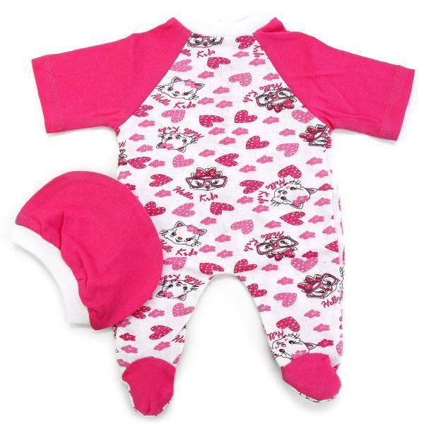 Комплект одежды для куклы карапуз 40-42см - Комбинезон с шапочкой, розовыйОдежда для кукол<br>Комплект одежды для куклы карапуз 40-42см - Комбинезон с шапочкой, розовый<br>