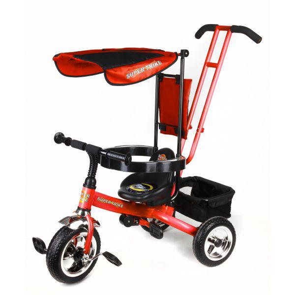 Велосипед 3-х колесный с ручкой, подножкой и тентом, оранжевыйВелосипеды детские<br>Велосипед 3-х колесный с ручкой, подножкой и тентом, оранжевый<br>