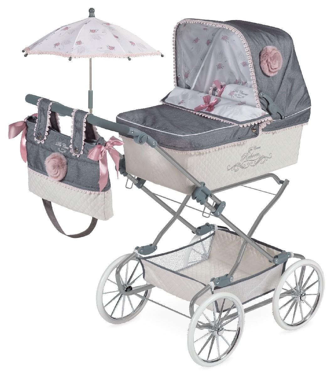 Купить Коляска с сумкой и зонтиком Реборн, 90 см., DeCuevas