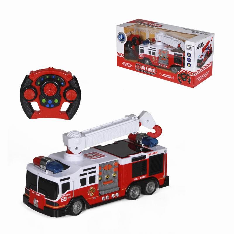 Пожарная машина с пультом на радиоуправлении - Пожарные машины, автобусы, вертолеты и др. техника, артикул: 166002