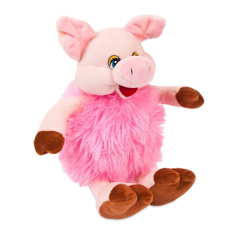 Купить Свинка пушистая розовая, 17 см, Chuzhou Greenery Toys Co