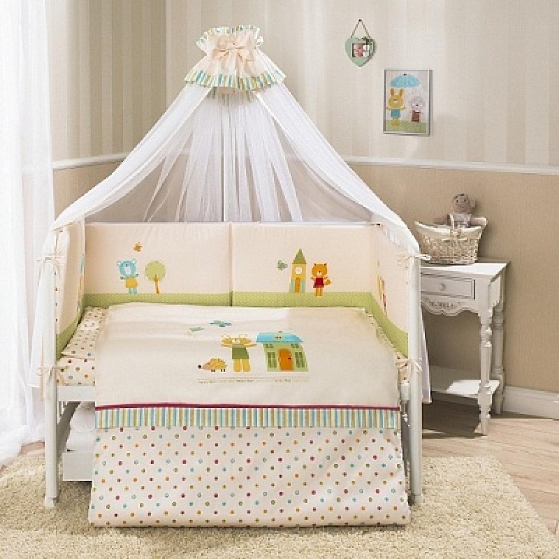 Комплект постельного белья Глория, бежевыйДетское постельное белье<br>Комплект постельного белья Глория, бежевый<br>