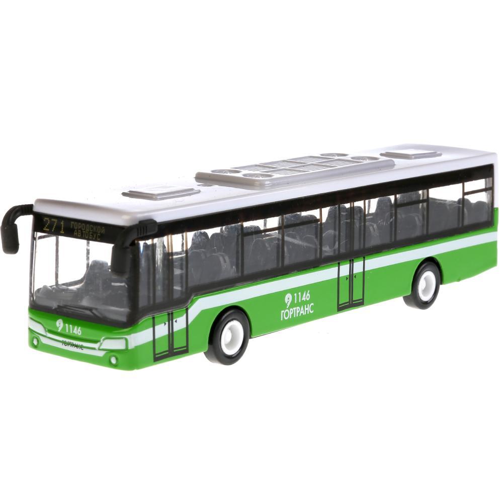 Автобус металлический, длина 14,5 см, инерционный