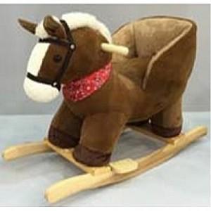 Меховая качалка со звуковыми эффектами. ЛошадкаДетские кресла-качалки<br>Меховая качалка со звуковыми эффектами. Лошадка<br>