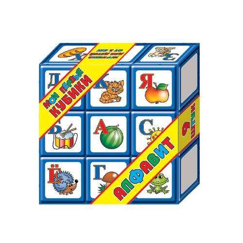 Кубики Алфавит, 9 больших кубиковКубики<br>Кубики Алфавит, 9 больших кубиков<br>