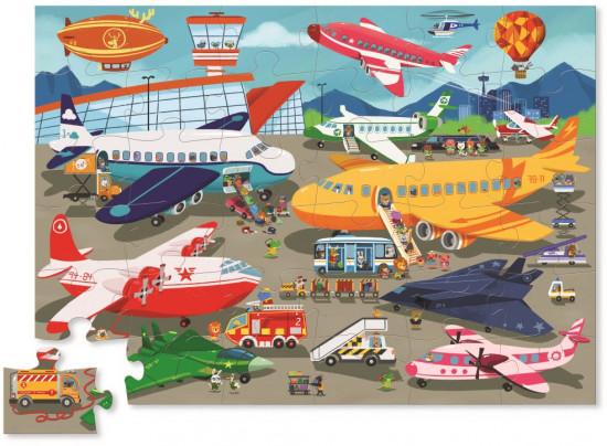 Купить Пазл - Оживленный аэропорт, 50 деталей, Crocodile Creek