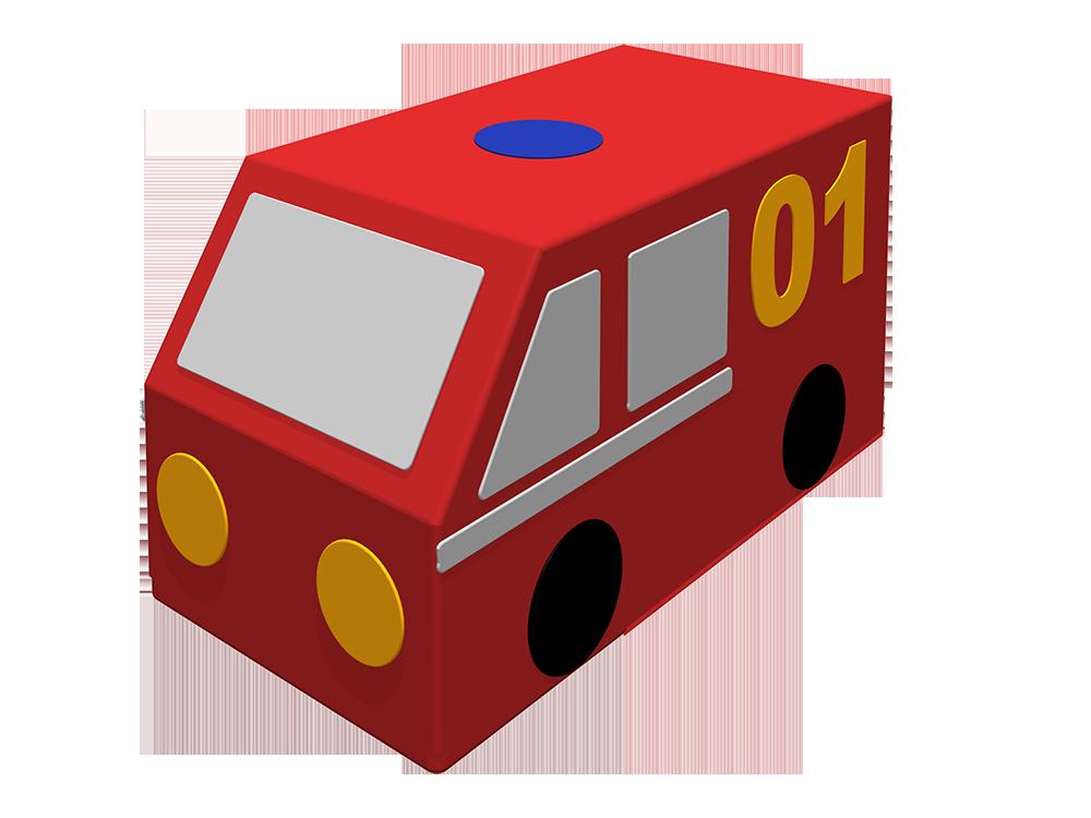 Контурная игрушка – Фургон. Пожарная машинаМягкие игровые комплексы<br>Контурная игрушка – Фургон. Пожарная машина<br>