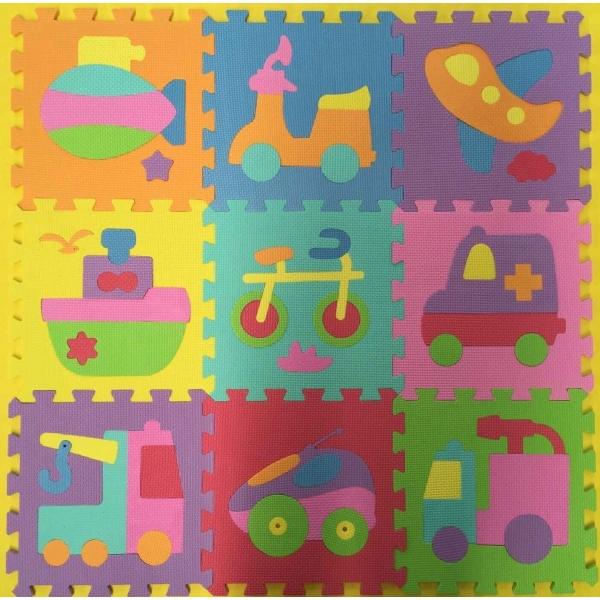 Коврик-пазл – Союзмультфильм с машинками, 10 сегментов, 29 х 29 см. sim)Коврики-пазлы<br>Коврик-пазл – Союзмультфильм с машинками, 10 сегментов, 29 х 29 см. sim)<br>