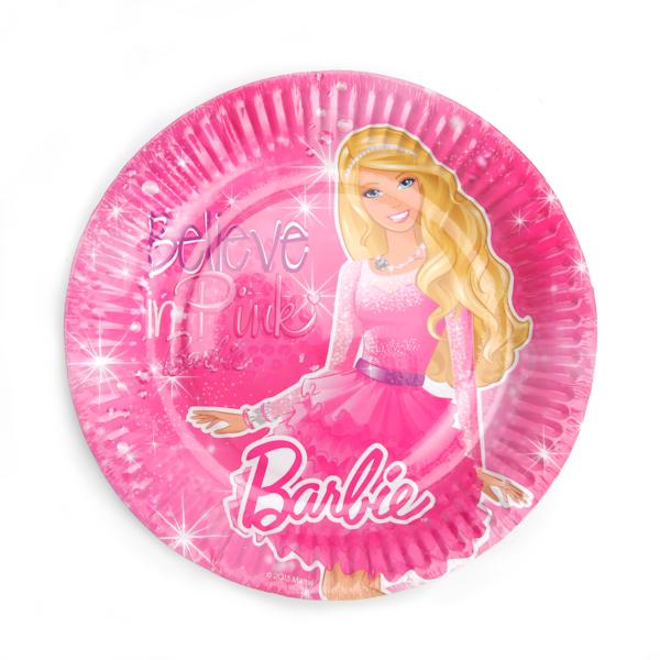 Набор из 6 тарелок с дизайном Барби, 18 см., в пакетеBarbie (Барби)<br>Набор из 6 тарелок с дизайном Барби, 18 см., в пакете<br>