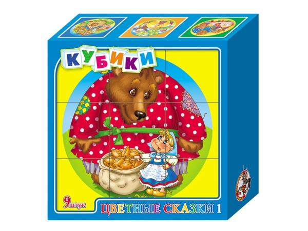 Кубики Цветные сказки 1Кубики<br>Кубики Цветные сказки 1<br>