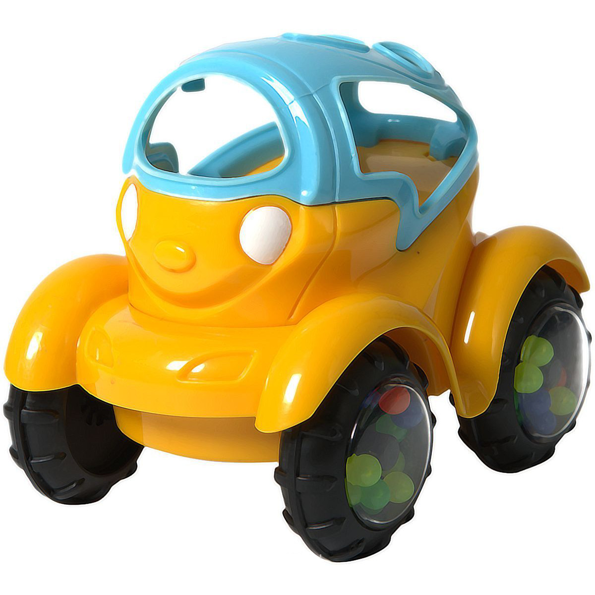 Машинка-неразбивайка, сине-желтаяМашинки для малышей<br>Машинка-неразбивайка, сине-желтая<br>