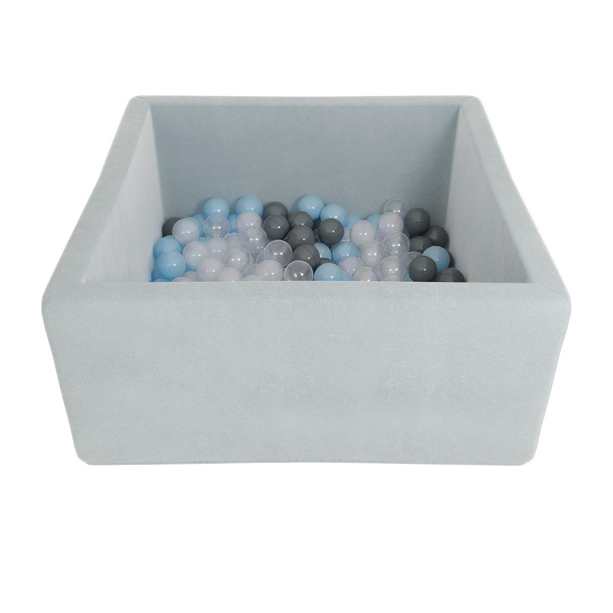 Купить Детский сухой бассейн Romana Airpool Box, серый + 300 шаров, Romana (Романа)