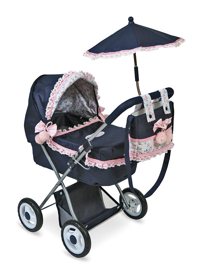 Коляска с сумкой и зонтиком Романтик, 65 см.Коляски для кукол<br>Коляска с сумкой и зонтиком Романтик, 65 см.<br>