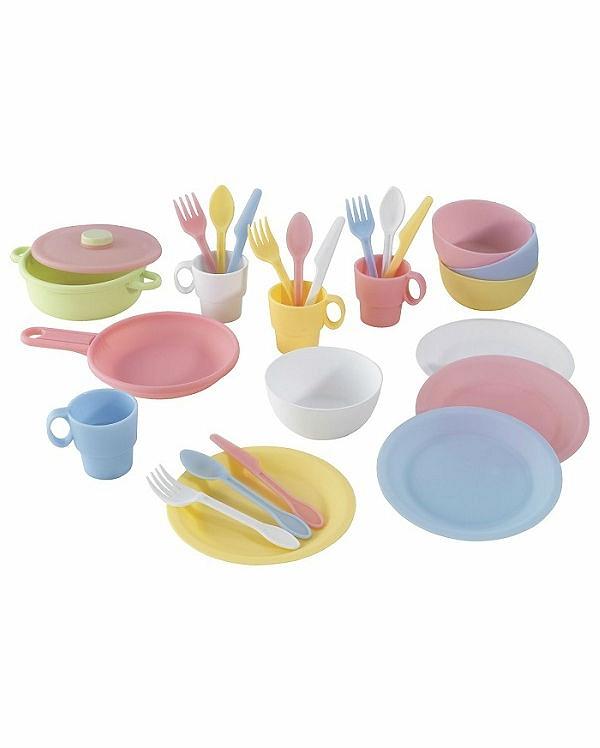 Кухонный игровой набор посуды ПастельАксессуары и техника для детской кухни<br>Кухонный игровой набор посуды Пастель<br>