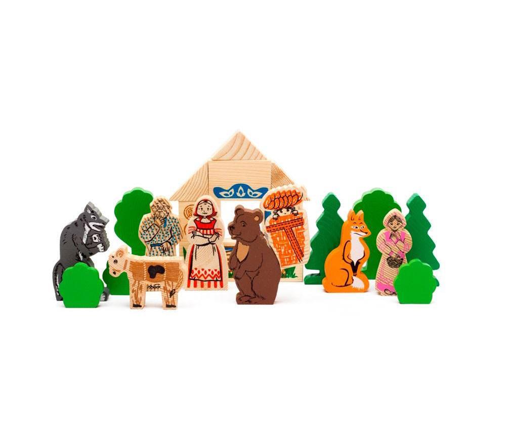 Купить Деревянный конструктор – Аленушкины сказки, 24 детали, Томик
