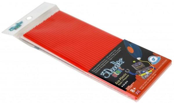 Купить Набор стержней для 3D-ручки 3Doodler Start, красный цвет, 24 шт., Wobble Works