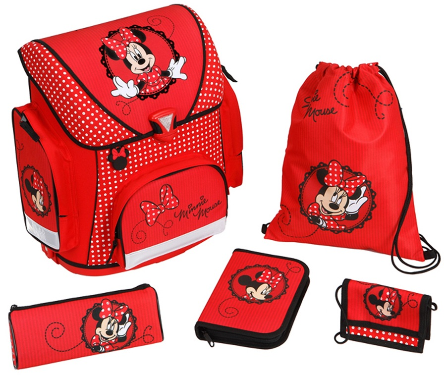 Scooli ранец с наполнением Minnie MouseШкольные рюкзаки<br>Scooli ранец с наполнением Minnie Mouse<br>